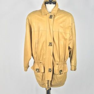 Lloyd Elliot country club leather jacket sz Large